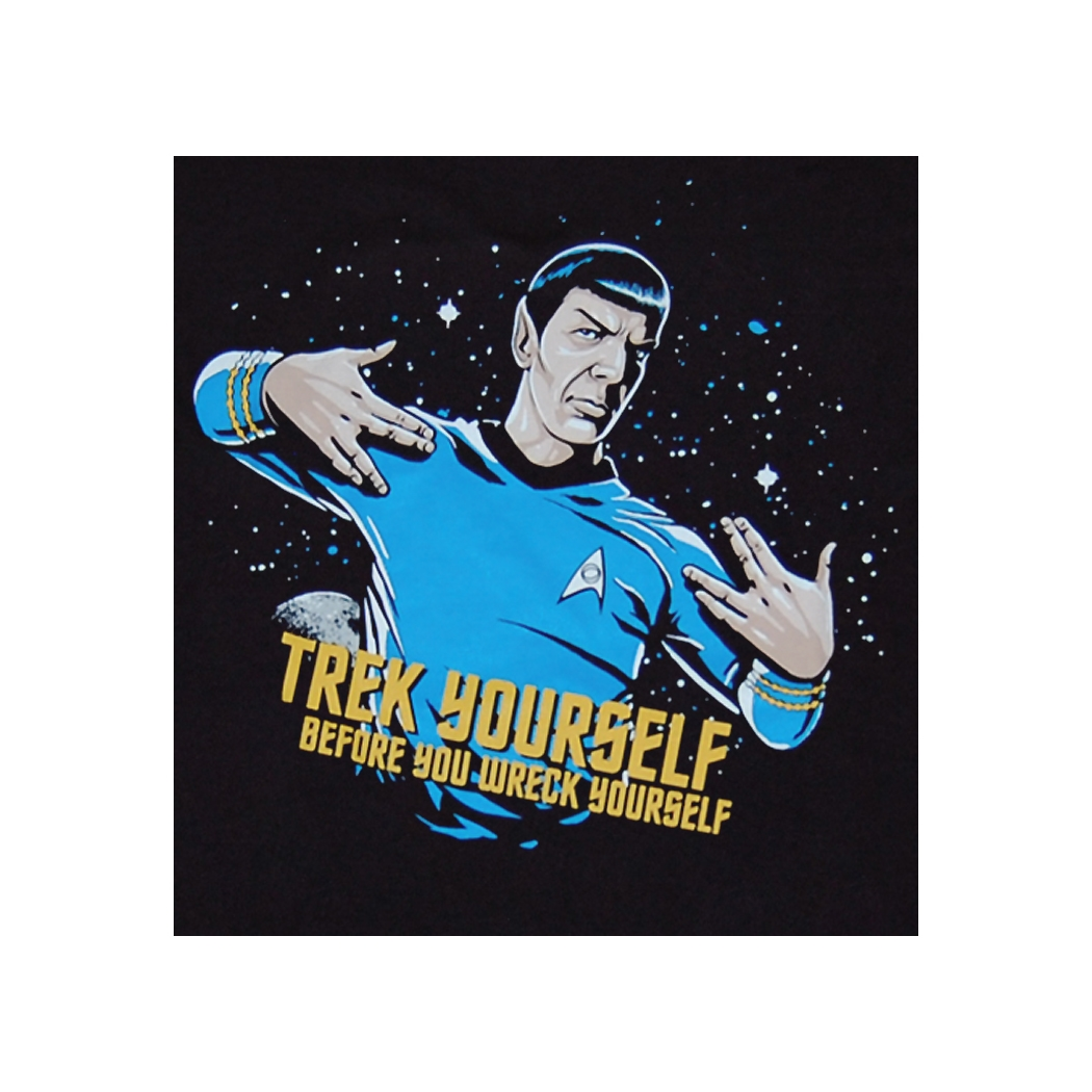 star trek t shirt star trek trek yourself before you wreck