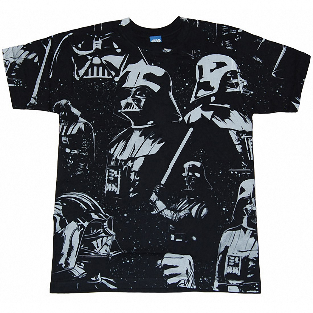 Star Wars Vader Dark Await Allover Print Licensed Adult T-Shirt
