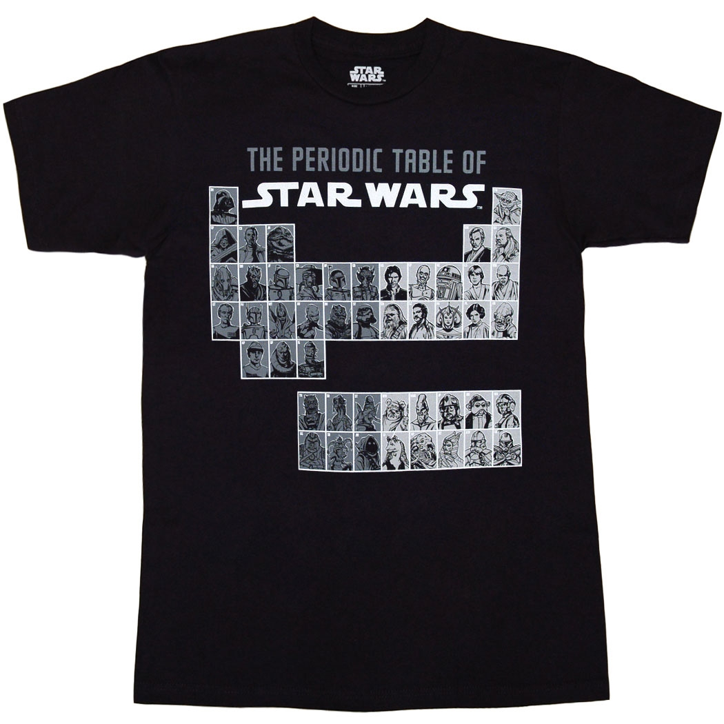 The Periodic Table of Star Wars T-Shirt
