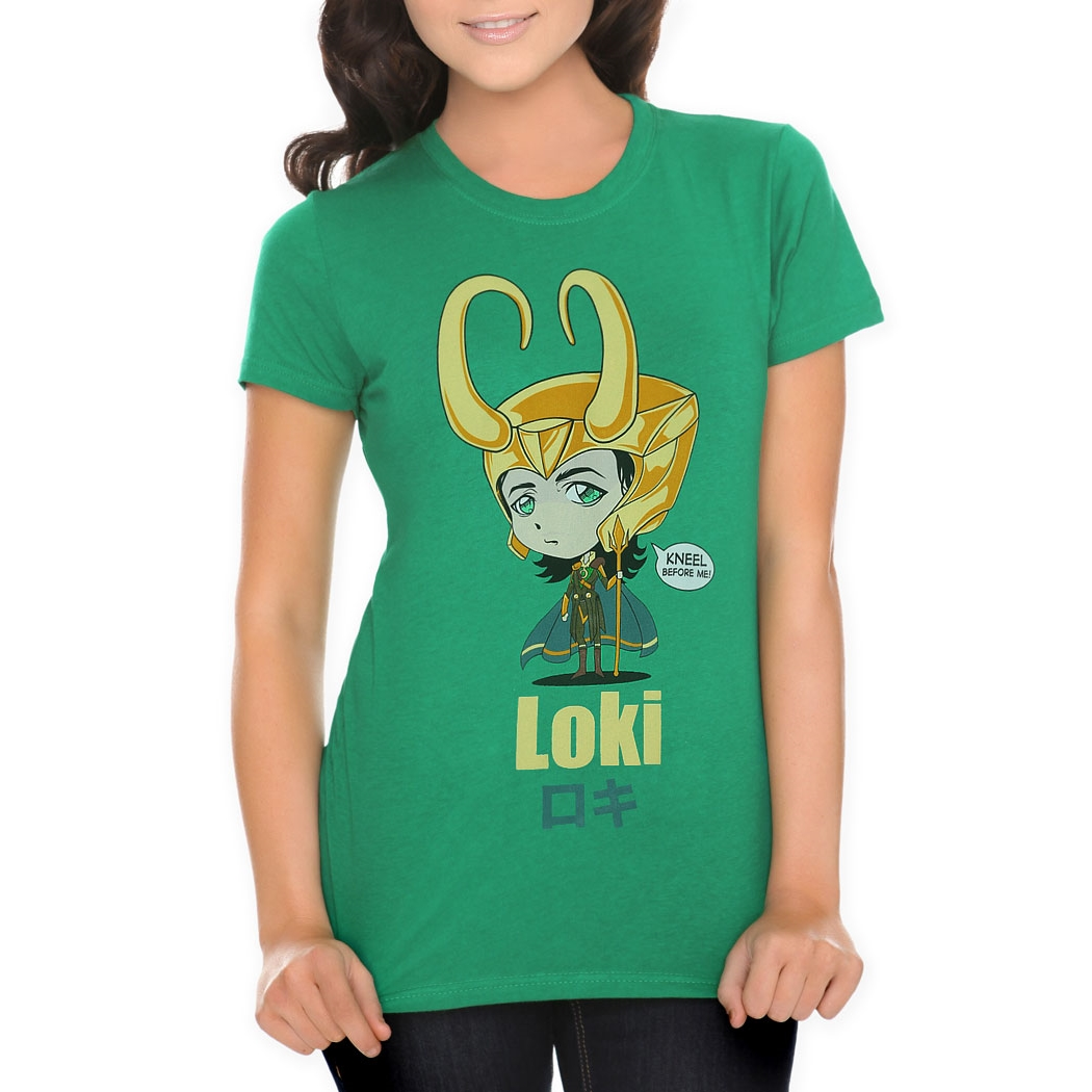 Marvel Loki Kawaii Kneel Ladies T-Shirt