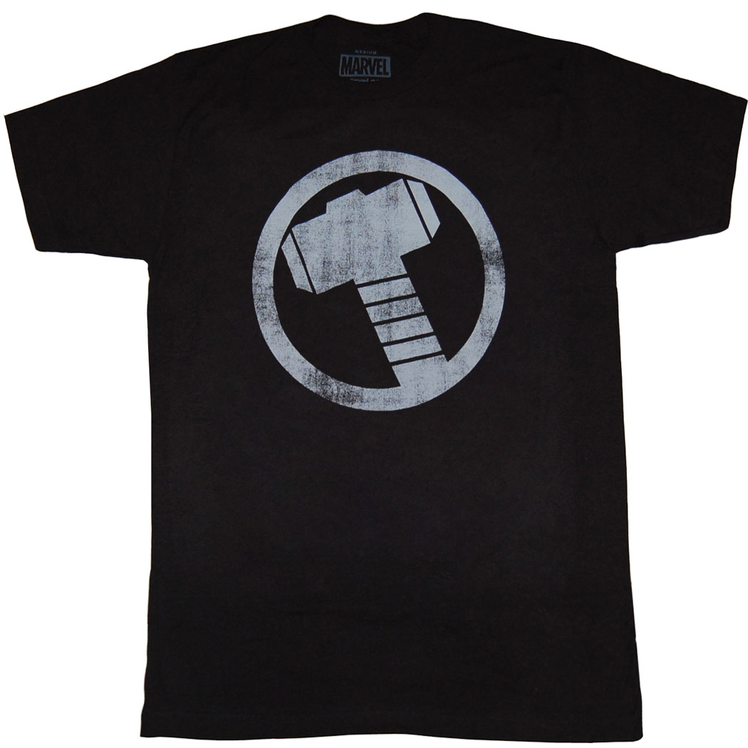 Thor Hammer Distressed Logo T-shirt