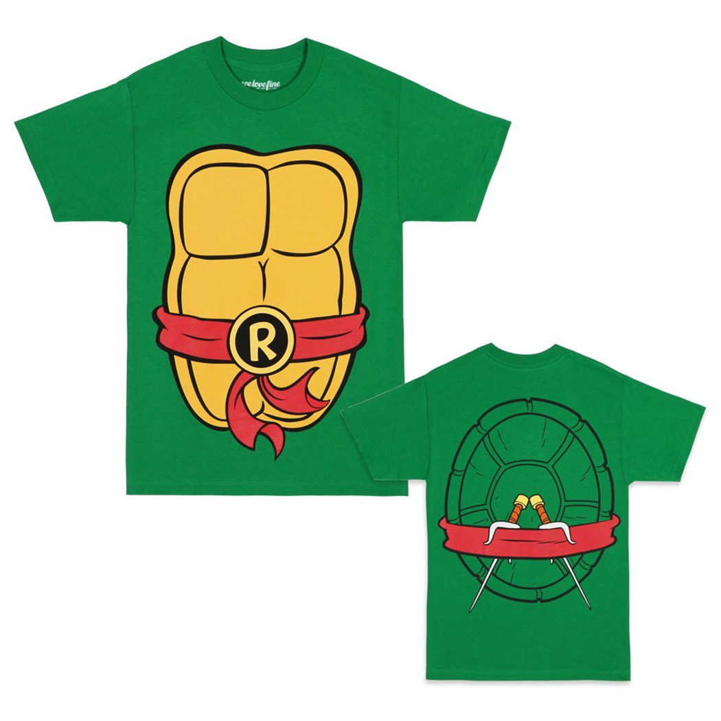 TNMT Shirts - Teenage Mutant Ninja Turtles Raphael Costume T-Shirt by Animation Shops  sc 1 st  Animationshops.com & TNMT Shirts - Teenage Mutant Ninja Turtles Raphael Costume T-Shirt ...