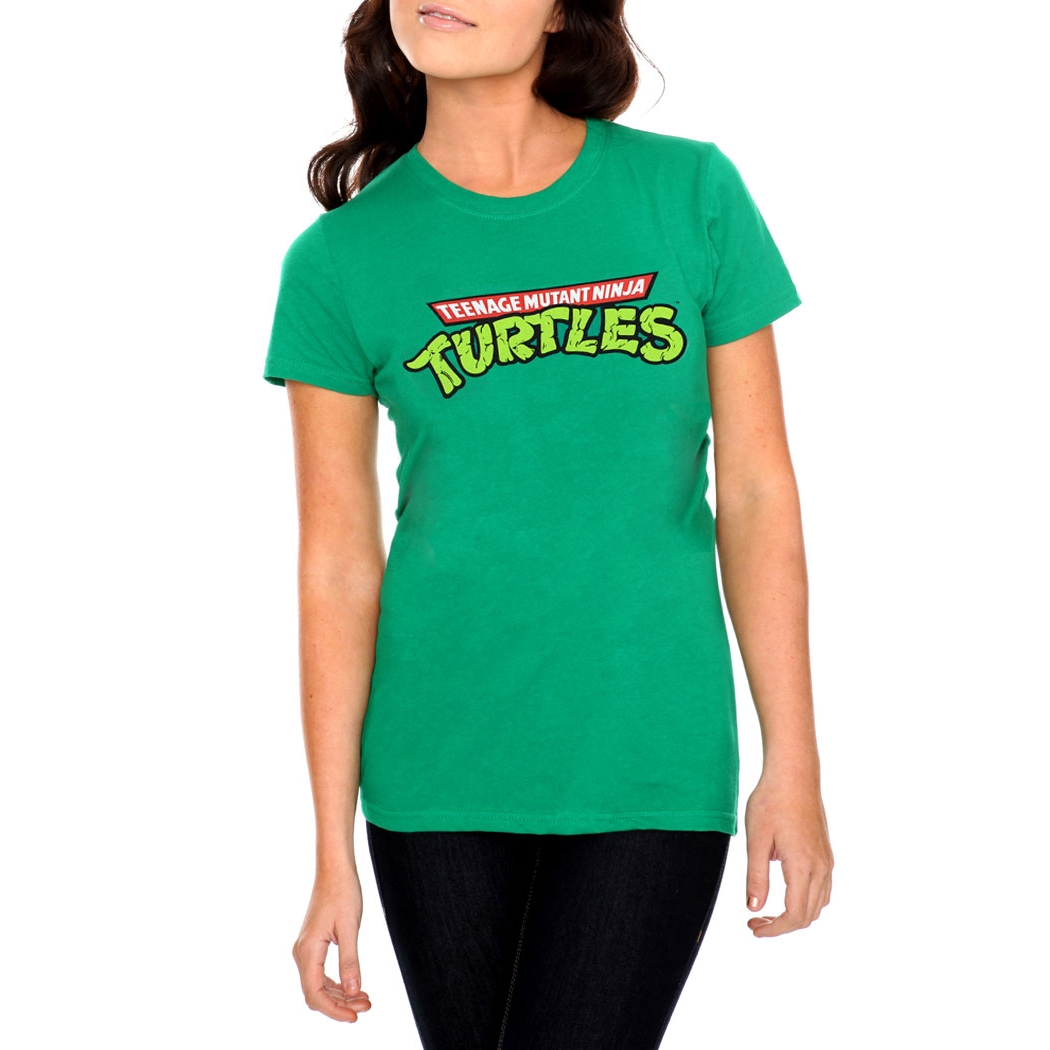 Teenage Mutant Ninja Turtles Logo Junior Women's T-Shirt
