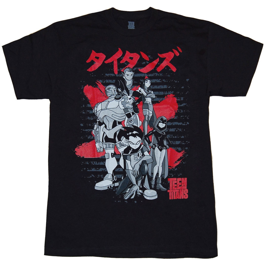 Teen Titans Japanese Logo T-shirt
