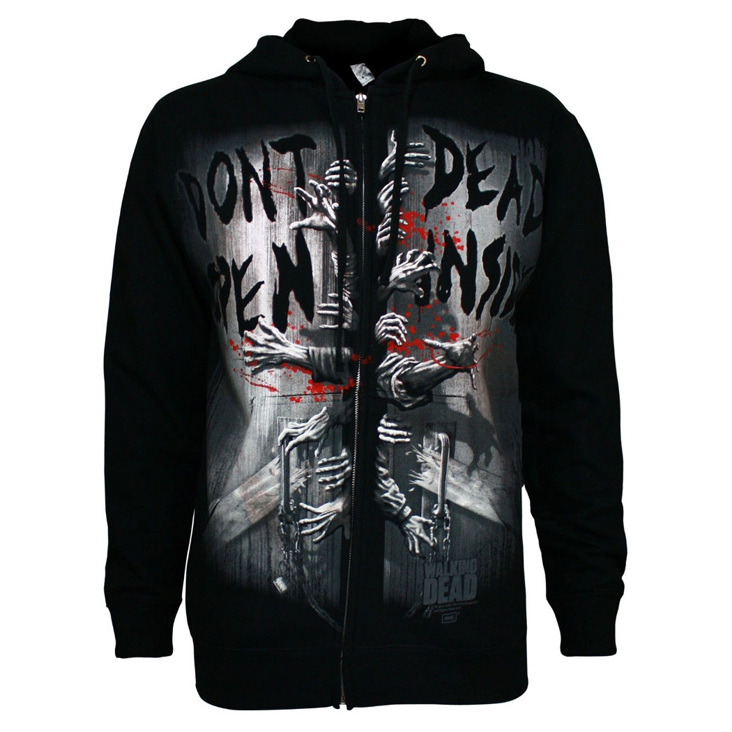 Walking Dead Dead Inside Zip Front Hoodie