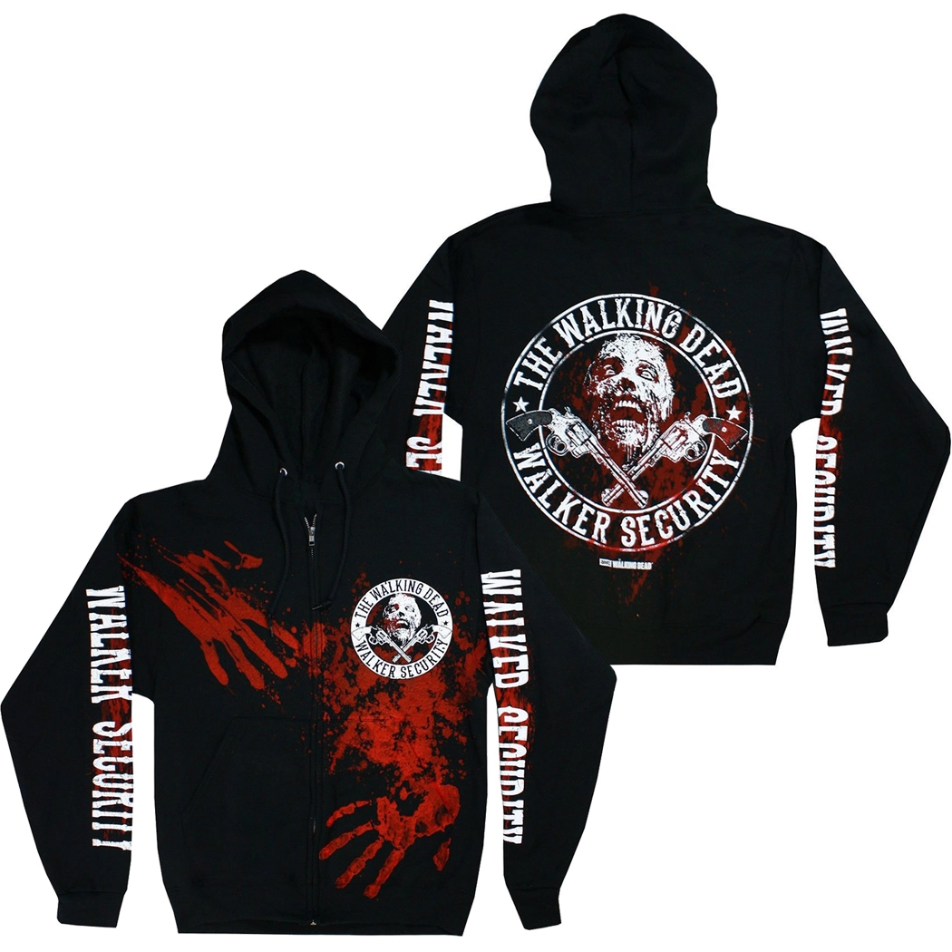 Walking Dead Walker Security Zip Up Hoodie