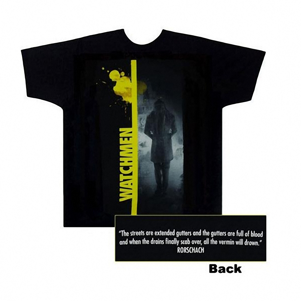 Watchmen Rorschach Strip Adult T-Shirt