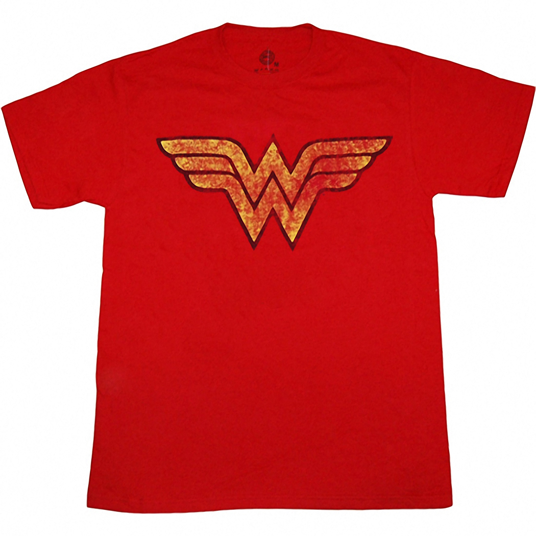 Wonder Woman Distressed Symbol T-Shirt