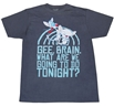 Pinky and the Brain Take Over The World Adult T-Shirt