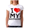 I Love My Boyfriend Junior Women's T-Shirt