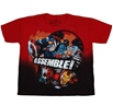 Avengers Movie On The Grid Juvy T-Shirt