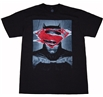 Batman vs Superman: Batman Ripped Poster Mens T-Shirt