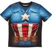 Captain America Sublimated Athletic Costume T-Shirt