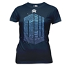 Doctor Who Logo of Words Ladies Junior T-Shirt