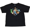 Minecraft Run Away Steve Glow in the Dark Adult T-Shirt
