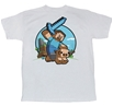 Minecraft Pig Riding Adult T-Shirt