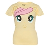 My Little Pony Fluttershy Big Face Junior Ladies T-Shirt