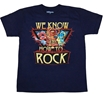 Muppets We Know How To Rock T-Shirt