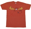 Rocky and Bullwinkle Bull Brains T-Shirt