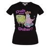 Spongebob Duh and Duher Junior Ladies T-Shirt