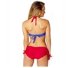 Supergirl Braided Bandeau Lace Up Bikini