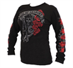 Sons of Anarchy Reaper Roses Long Sleeve Junior Shirt