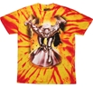 Silver Surfer Cosmic Wave Tie Dye T-Shirt