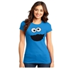 Cookie Monster Silly Face Junior Women's T-Shirt