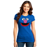 Sesame Street Grover Face Junior Women's T-Shirt