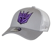 New Era Hero Mesh Transformers Decepticon Logo 39Thirty Flex Fit Hat